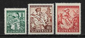 Slovakia-1939-Natioal-Costumes-Crafts-Scott-40-42-VF-XF-MLH-OG-NS-1