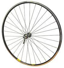 700c FRONT Shimano 105 32h Road Bike Mavic Open Pro Black Rim & Spokes Wheel