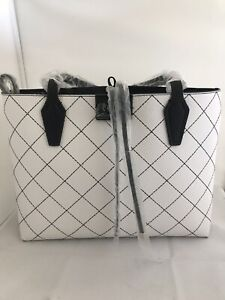 Details about BNWT GUESS LADIES DESIGNER GENUINE BOBBI INSIDE OUT TOTE BAG REVERSIBLE