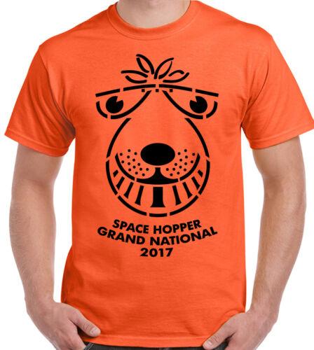 Space Hopper Grand National 2017 Mens Funny T-Shirt Retro 70/'s 80/'s Spacehopper