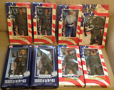 """Eight NEW Soldiers of the World VIETNAM WAR 12"""" Action Figures: Lot of 8 NIB"""