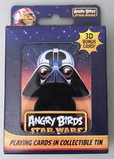 (PRL) STAR WARS ANGRY BIRDS PLAYING CARDS CARTAMUNDI COLLECTIBLE TIN CARTE 3D