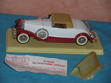 715 I SOLIDO 156 AGE OR 1935 DUESENBERG J SPIDER CAB CLOSED BLANC RED SOCLE 1/43