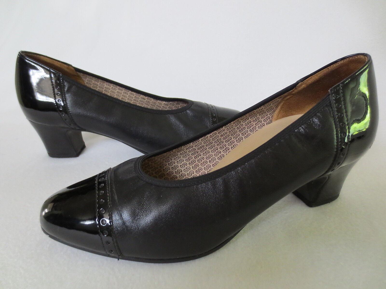 Salamander Comfort Pumps Ballerinas Milva 4 E 37 Leder Lackleder schwarz TOP/Z60