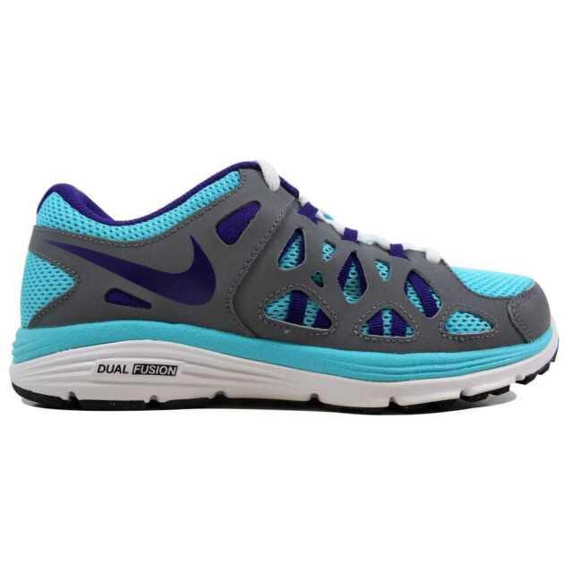Nike Dual Fusion Run 2 599793 451BluePurple Grey White YouthBig Kid Size 6Y