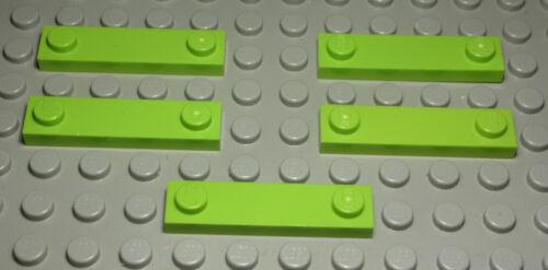 Lego Platte innen Glatt 1x4 lime Hellgrün 5 Stück 354 #