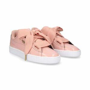 Puma Basket Heart Patent Peach Pink