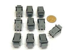 10 Pieces Square Black Ds 430 Push Button Switch Latching Open N0 Locking G22