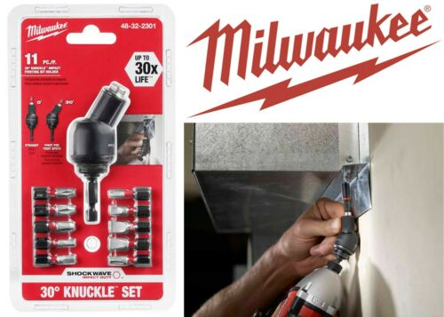 Milwaukee 48-32-2301 SHOCKWAVE 6 Piece Knuckle Bit Holder Set New Free Shipping