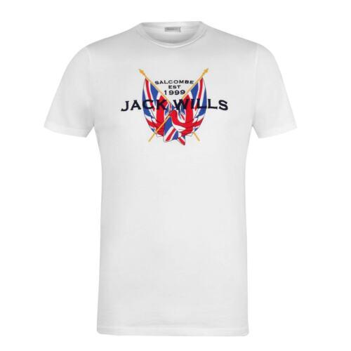 Jack Wills brodé T shirt à encolure ras-du-cou NEUF