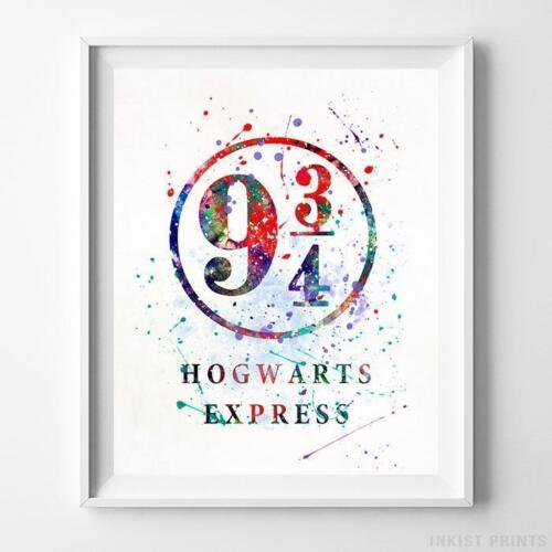 Hogwarts Express Harry Potter Watercolor Poster Nursery Decor Art Print UNFRAMED