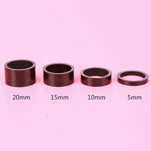 Carbon Fiber Headset Spacer Bicycle 28.6mm Headset Washer Cycling 4PCS Sport Top