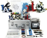 Tattoo Starter Travel Kit 2 Seller Supply Ink Needles Machine Grips Tips Case