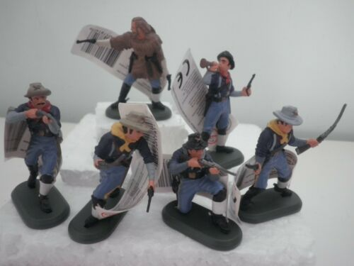 BRITAINS SUPER DEETAIL 7th Cavalry Custer Soldatini 1:32 Set Completo 6 figure