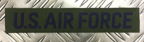 Chest Device Patch Insignia Strip x 2 Genuine Vintage USAF US Air Force Breast
