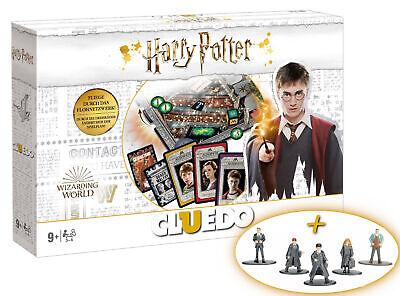 Cluedo Harry Potter Brettspiel 5 Metall Sammelfiguren 4cm EXTRA 2019, weiß