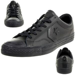 Détails sur Converse Star Player Ox Chaussures Baskets Cuir Noir 159779C