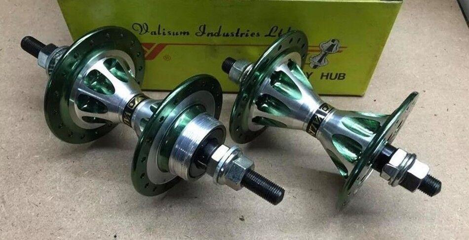 NOS VALISUM ALLOY HUBS GREEN 36H FRONT  & REAR OLD SCHOOL BMX GT HARO PK SE HUTCH  60% off
