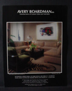 Terrific Details About 1986 Avery Boardman Custom Sofas Beds Furniture Vintage Print Ad 127874 Ocoug Best Dining Table And Chair Ideas Images Ocougorg