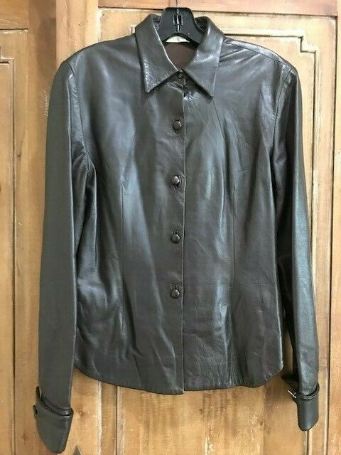 Charles Chang- Lima braun Beautiful Leather  Top Sz 6