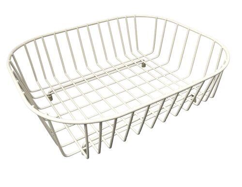 Delfinware Oval Sink Basket Non Slip Rubber Easy to clean 38 x 33 x 12.5cm Cream