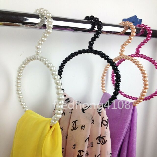 Plastic Pearl Bow Scarf Hanger Socks Silk Stockings hanger holder towel hanger