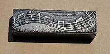 Printing Letterpress Printers Block Music Note Bar 4 Inches All Lead 15lbs
