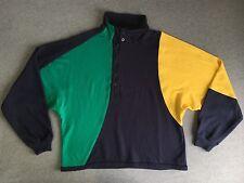 NAUTICA Sweater 90s Vtg COLORBLOCK Sweatshirt Jacket 1/4 Zip Yacht Hip Hop Men M