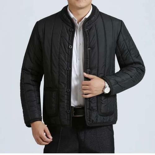 Winter Men/'s Cotton Padded Jacket Long sleeve Fleeces Lined Quilted Casual New B