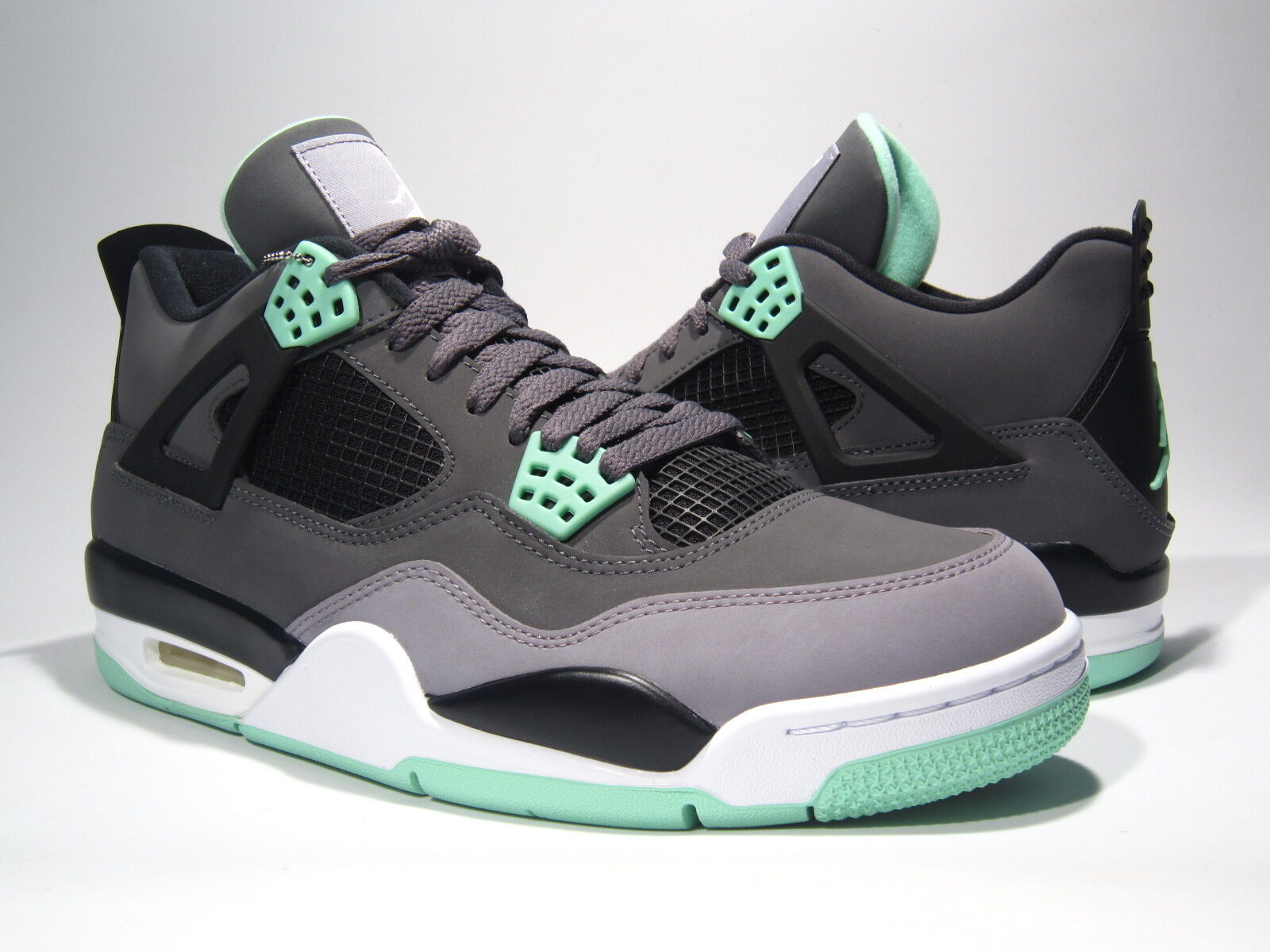 BRAND NEW AIR JORDAN RETRO 4 GREEN GLOW sz8-13 308497 033 TRUSTED SELLER