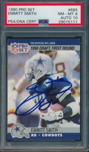 1990-Pro-Set-Emmitt-Smith-Signed-Rookie-Card-685-PSA-8-Auto-10-Dallas-Cowboys