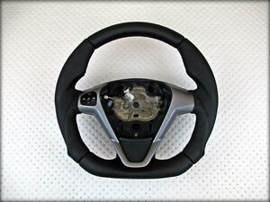 ford fiesta mk6 vi st rs abgeflacht lenkrad flat bottom steering wheel volant ebay. Black Bedroom Furniture Sets. Home Design Ideas