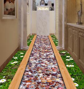 3D Daisy Stone Road 7 Floor WallPaper Murals Wall Print 5D AJ WALLPAPER UK Lemon