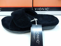 Vionic Orthaheel Womens Slippers Relax Black Size 10
