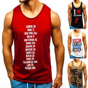 Tanktop-T-Shirt-Muskelshirt-Achselshirt-Aufruck-Herren-Mix-BOLF-3C3-Print