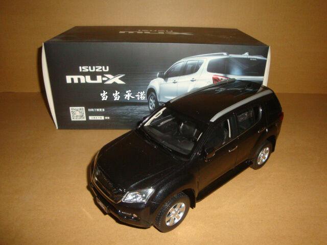 1 18 Isuzu mu-x Suv Diecast Modelo Color Negro + Regalo