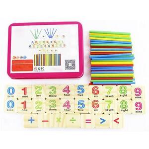 79Pcs-Holz-Zahlen-Mathematik-Lernen-Zaehlen-Stecken-Kinder-Edukation-Spielzeug