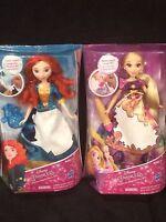 Disney Princess Magic Story Skirt Dolls Merida & Rapunzel Brand