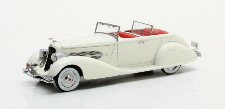 Matrix-duesenberg sj 544-2570 bohman & schwartz roadster 1936 1 43 - white