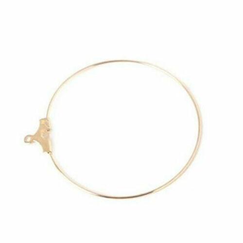 40pcs Charms Beading Hoop Loop Earring Ear Wire Jewelry Making Findings