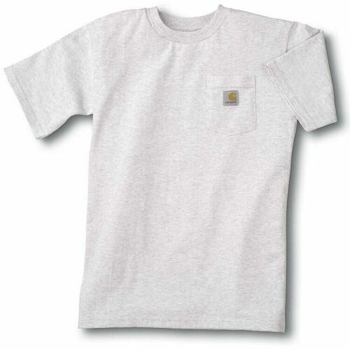 Authentic Carhartt Boys Pocket T-Shirt Ash Gray NWT