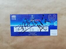 Arsenal  Barcelona 2006 Champions final ticket signed Belletti Eto'o Ronaldinho