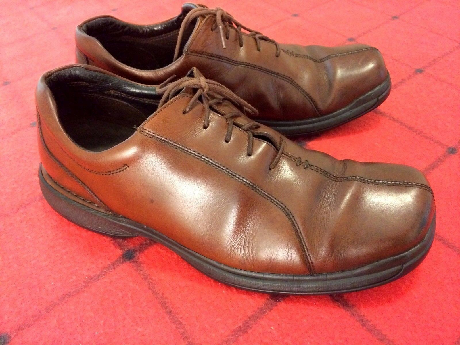 ROCKPORT KINETIC LEATHER AIR CIRCULATOR MEN SIZE 11.5 M BROWN LEATHER KINETIC UPPER DRESS SHOES 01a39f