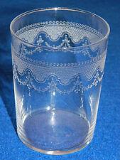 ancien vintage VERRE en CRISTAL CRYSTAL glass GLAS cristallerie GRAVE
