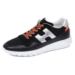 Details about 1176J sneaker donna black/silver HOGAN H371 INTERACTIVE 3 rainbow shoe woman
