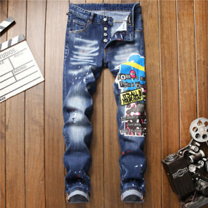 New-Dsquared2-Jeans-Men-039-s-Slim-Fit-DSQ2-Washed-Denim-CANADA-Brothers-2-Elastane