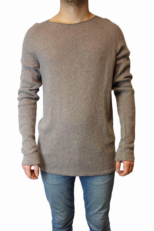 Nebo pullover uomo taglia XL tortora Merino Lana Maglia Maglione m34a Top  m34a Maglione f1dfe3