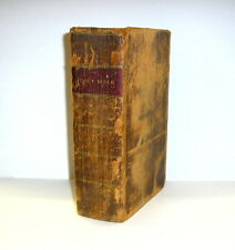 1816 Antique Holy Bible & Apocrypha Collins Backus Albany New York Leather Book