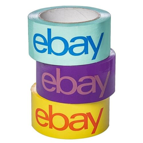 """12 ROLLS Packing Tape  Logo Branded Shipping Box 2/"""" x 75 Yards 3 colors"""