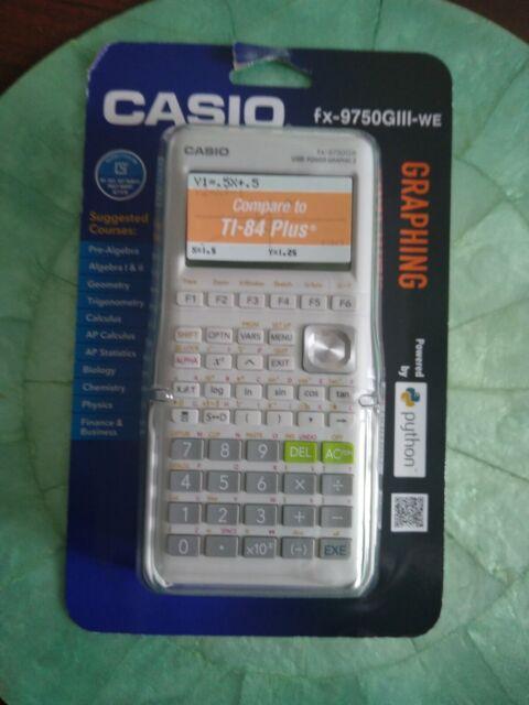 Casio fx-9750GIII - WE Graphing Graphic Calculator White